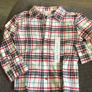 Plaid long sleeve flannel